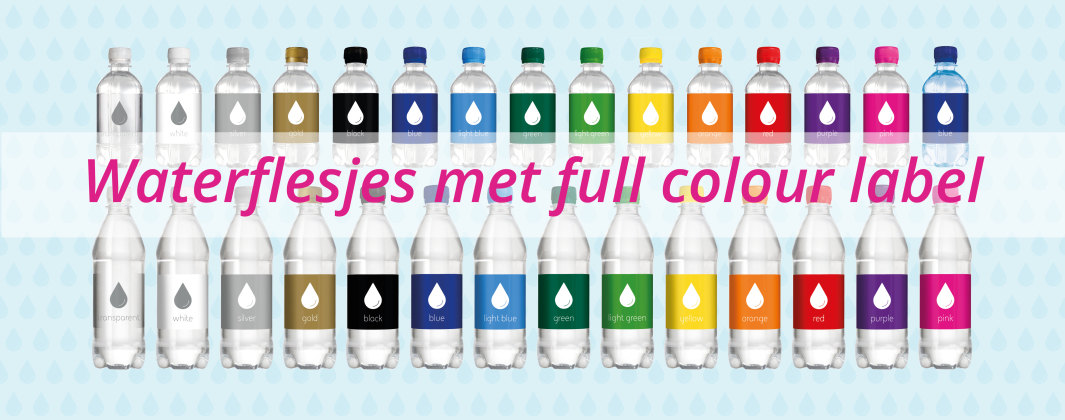 Waterflesjes met full colour label